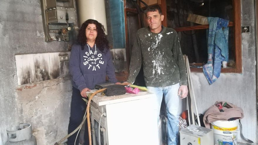 Marisol y Juanjo, dentro de la casa un mes después del incendio