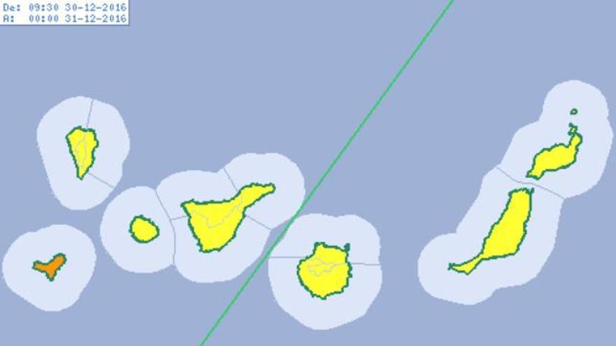 Aviso naranja en El Hierro por vientos de hasta 100 km/h