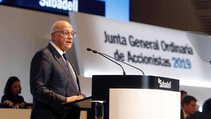 El Sabadell gana 258,3 millones en el primer trimestre, un 0,4 % menos