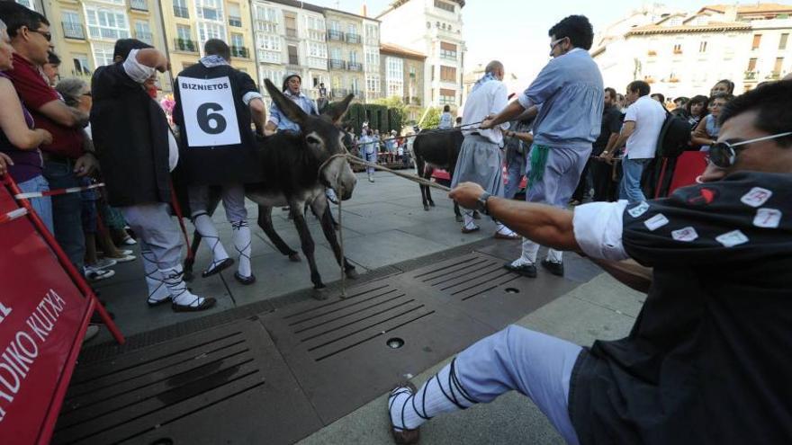 Vitoria-Gasteiz ha acabado con las tradicionales y crueles carreras de burros. Foto: ATEA