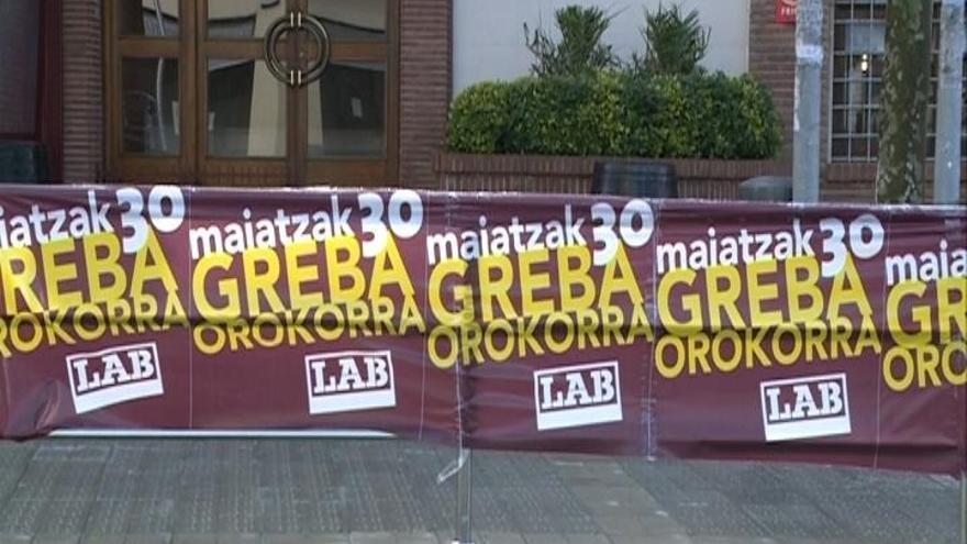 Sindicatos nacionalistas llaman este jueves a los trabajadores vascos a una nueva huelga general