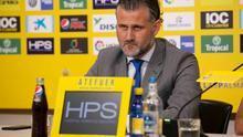 Toni Otero, en rueda de prensa en el Estadio de Gran Canaria
