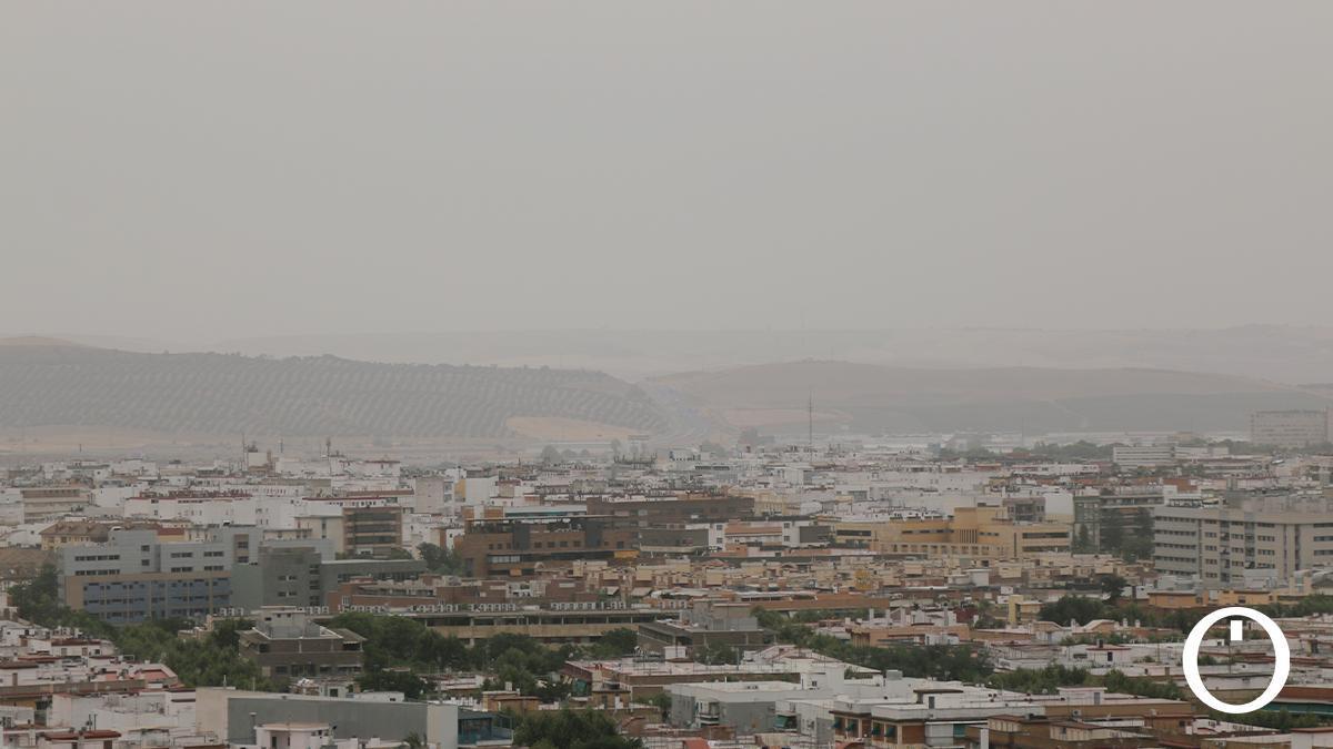 Polvo en suspensión sobre Córdoba