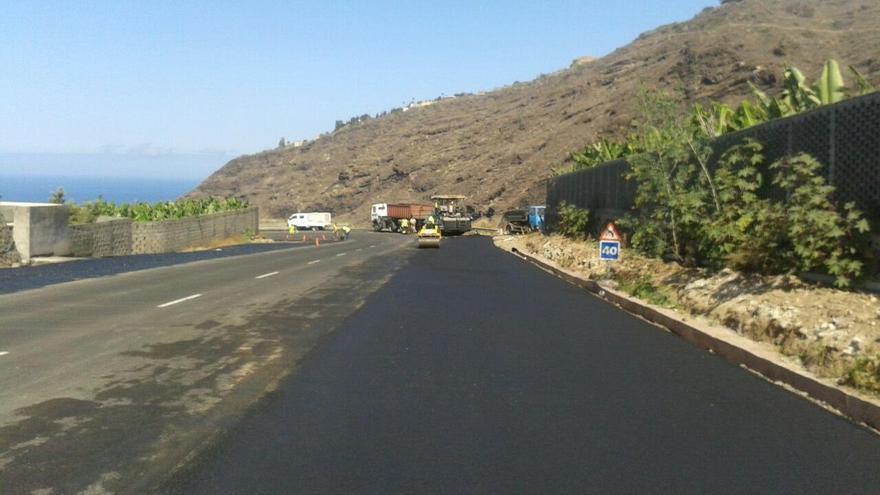 El tercer carril de circulación en la carretera LP-1 se acondicionará en la zona conocida como La Punta de Argual, en Los Llanos de Aridane, entre los puntos kilométricos 101 y 102.