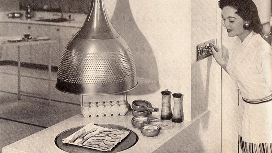 Horno microondas de 1959. (Foto: SportSuburban/Flickr)