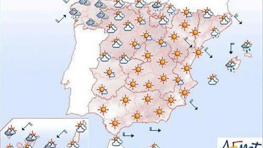 Viento fuerte en Galicia y Cantábrico y lluvia fuerte en Baleares