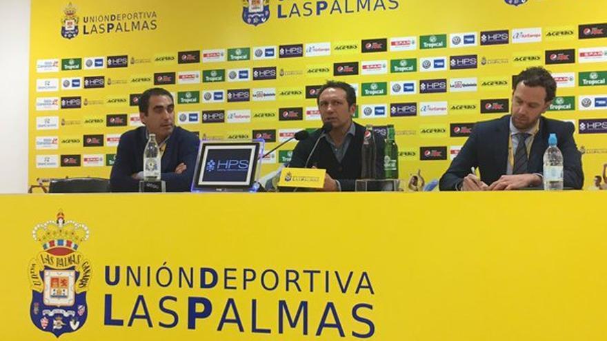 El entrenador de la Real Sociedad, Eusebio Sacristán, en el Estadio de Gran Canaria. (Twitter oficial UD Las Palmas).