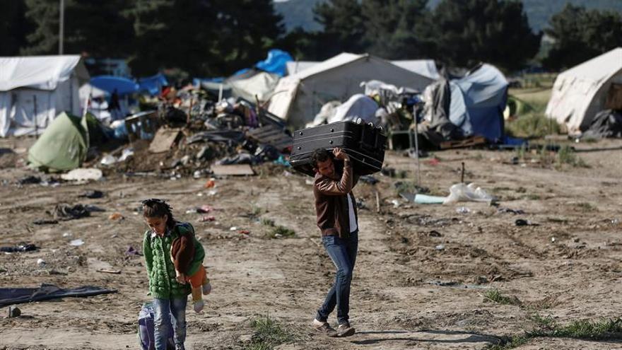 Imagen de archivo de los restos del campamento de Idomeni