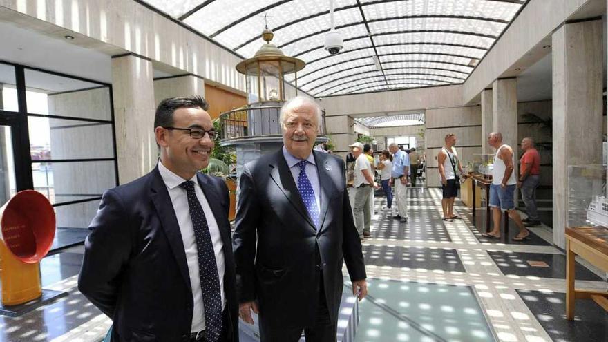 El exdirector de Puertos José Rafael Díaz y el ex presidente del Cabildo de Tenerife Ricardo Melchior.