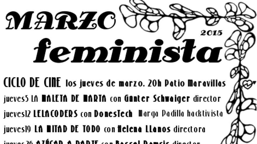 """Cartel """"Marzo Feminsita"""" del Patio Maravillas"""