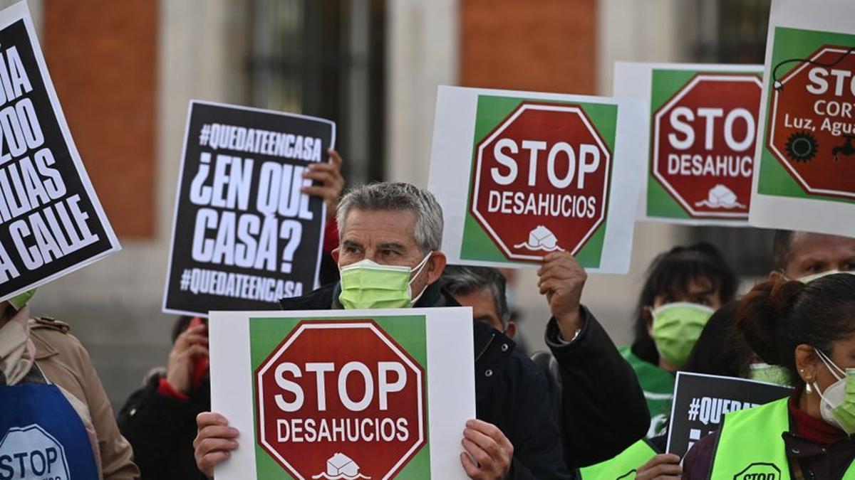 Manifestación de la plataforma STOP-Desahucios.