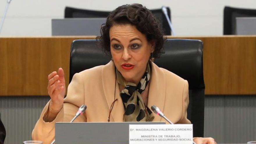 La ministra de Trabajo, Magdalena Valerio, en una imagen de archivo.