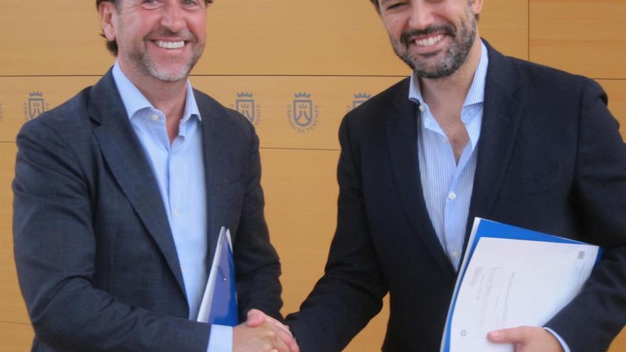 Carlos Alonso y Lope Afonso, tras anunciar el acuerdo