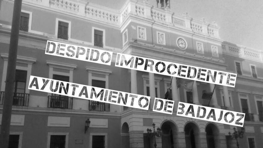 Pedro Luengo Ayuntamiento Badajoz concentración protesta despido readmision