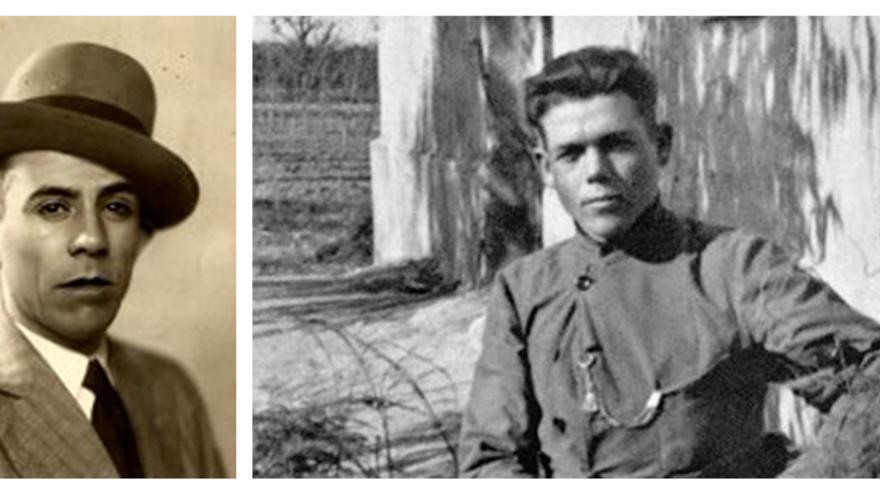 Antonio Donoso y Antonio Hernández, ferroviarios represaliados por el franquismo.