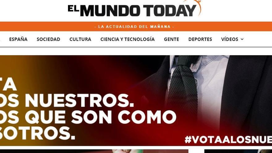 Captura de uno de los banners de la web de El Mundo Today