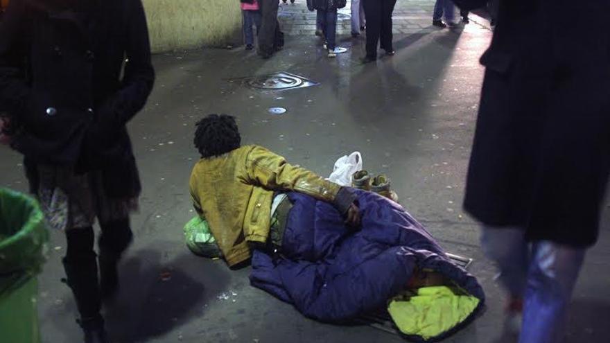 Un joven sin hogar