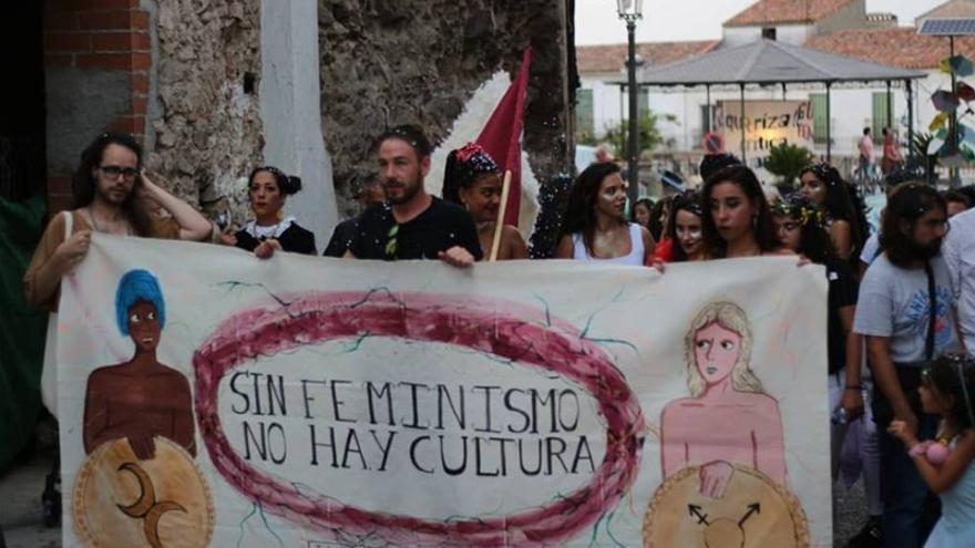 Imagen de archivo de una de las acciones de años anteriores por las calles de Alburquerque