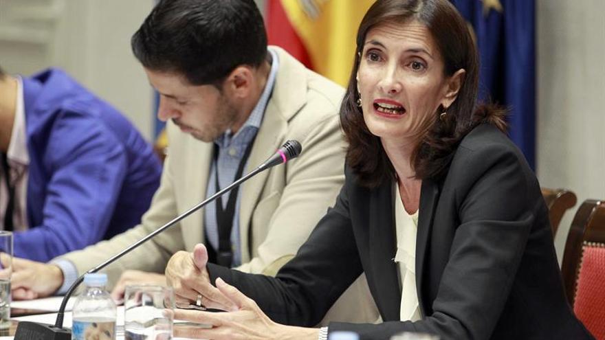 La consejera de Turismo, Cultura y Deportes, María Teresa Lorenzo, comparece en comisión parlamentaria. EFE/Cristóbal García