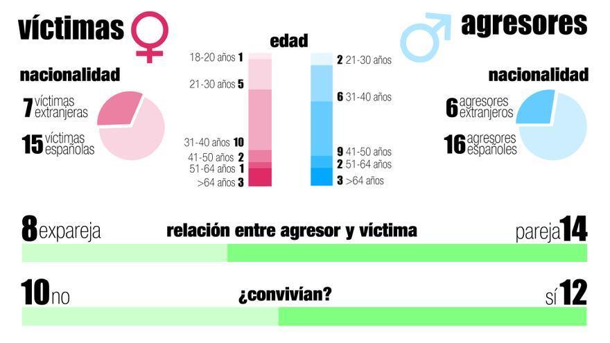 grafico: violencia de género 22 victimas