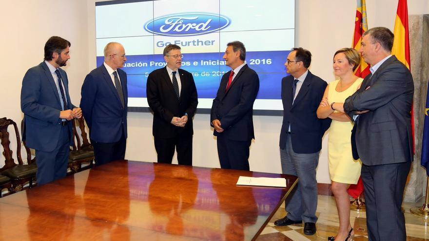 El jefe del Consell, Ximo Puig, se ha reunido con Jesús Alonso, presidente de Ford España