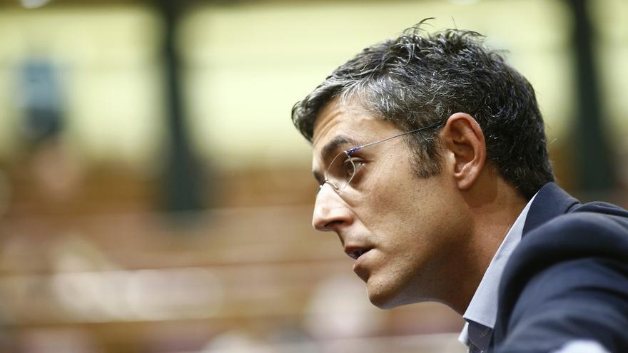 Madina presentó su candidatura en el Senado junto al busto del histórico dirigente Ramón Rubial