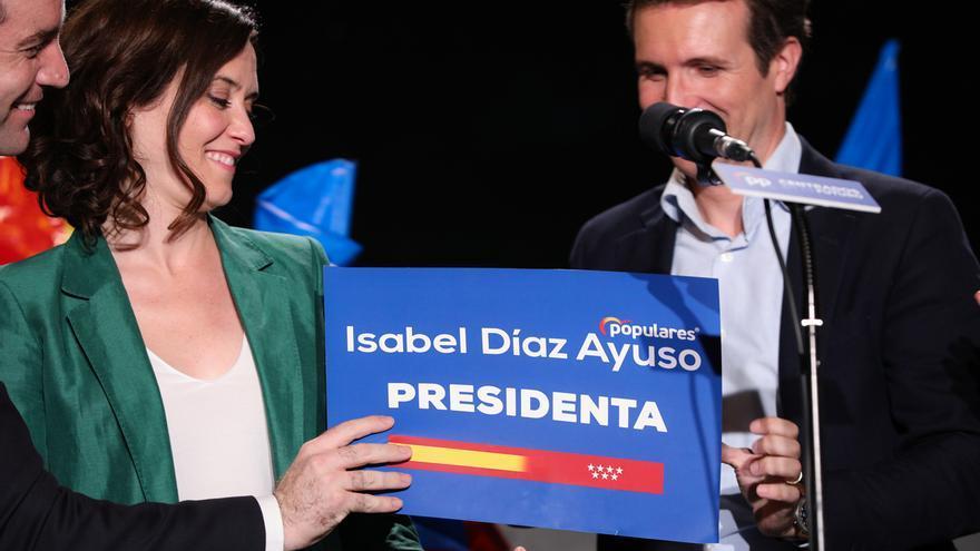 Díaz Ayuso da por hecho que presidirá la Comunidad de Madrid aunque no ha empezado a negociar con Cs y Vox