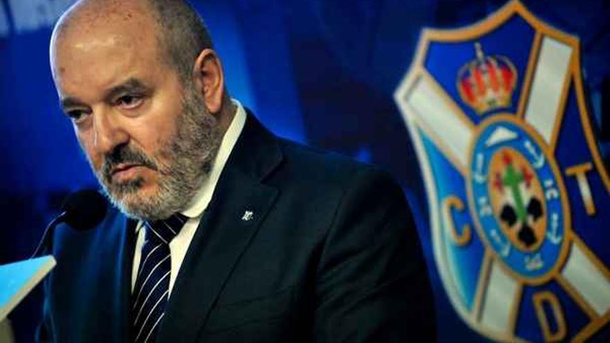 El presidente del CD Tenerife, Miguel Concepción.