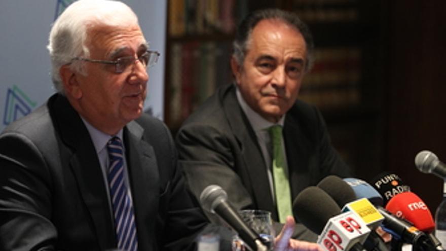 Presidente de la patronal andaluza, Santiago Herrero, y el presidente de Ametic,