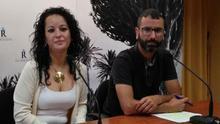 Los dos concejales de IUC en Los Realejos, con Jonás Hernández