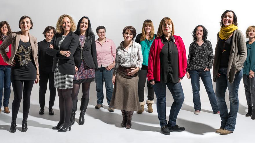 Las doce mujeres que participan en el blog 'Doce Miradas'