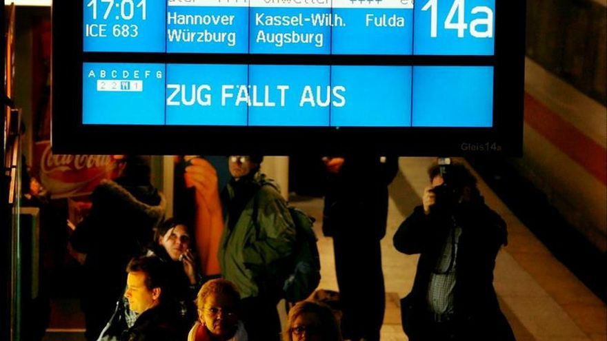Trenes alemanes, afectados por presuntos sabotajes en distintos puntos país