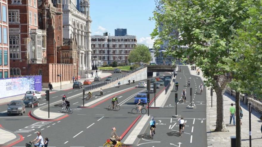 Súper vía ciclista en Londres