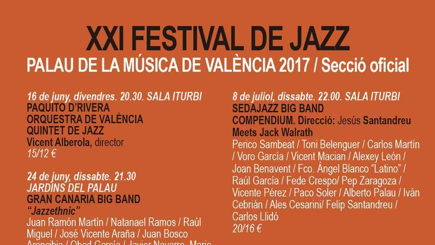 Programación XXI Festival de Jazz Valencia