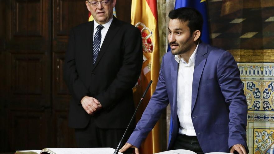 El president de la Generalitat, Ximo Puig, amb el conseller Vicent Marzà