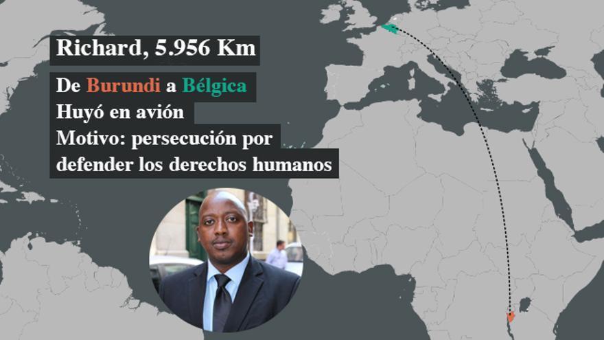 Richard huyó a España bajo persecución y amenazas por defender los derechos humanos en su país, Burundi | FOTO: Amnistía Internacional