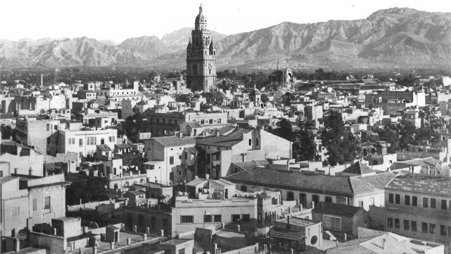 Panorámica de la ciudad de Murcia en el primer tercio del siglo XX / Archivo Histórico Municipal de Murcia