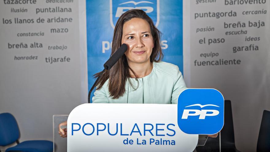 Lorena Hernández Labrador, diputada por La Palma del PP en el Parlamento de Canarias.