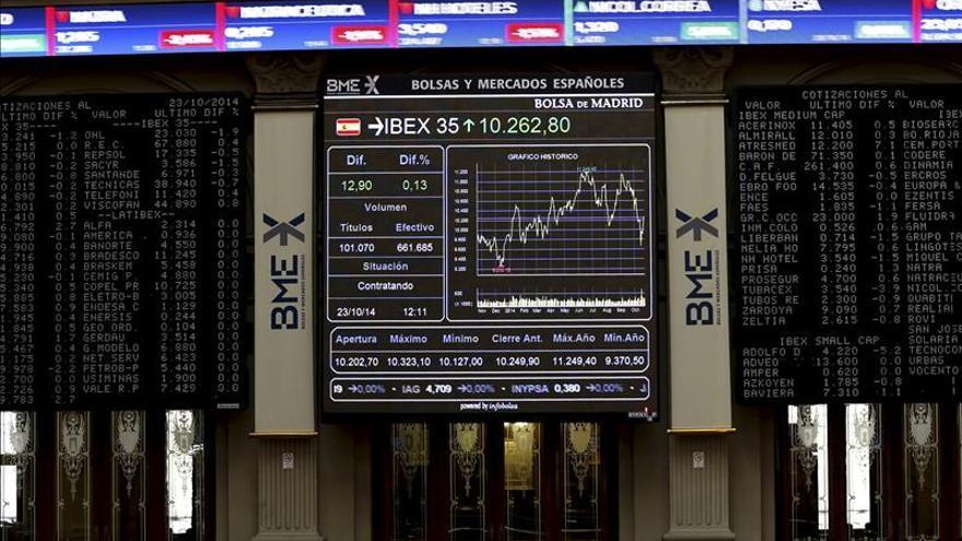 La bolsa española abre con ganancias y el IBEX sube un 0,28 por ciento y roza 10.300
