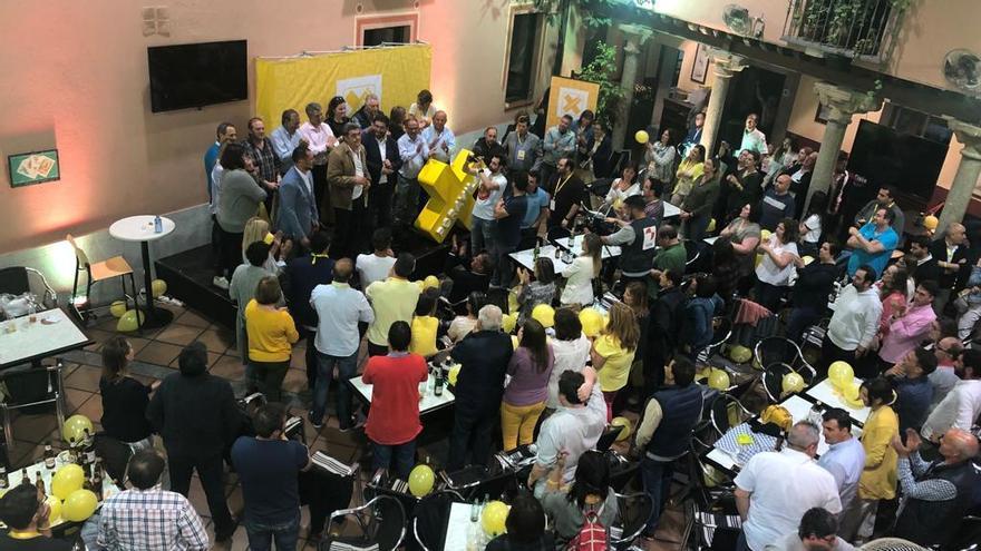 El XAV durante la noche electoral