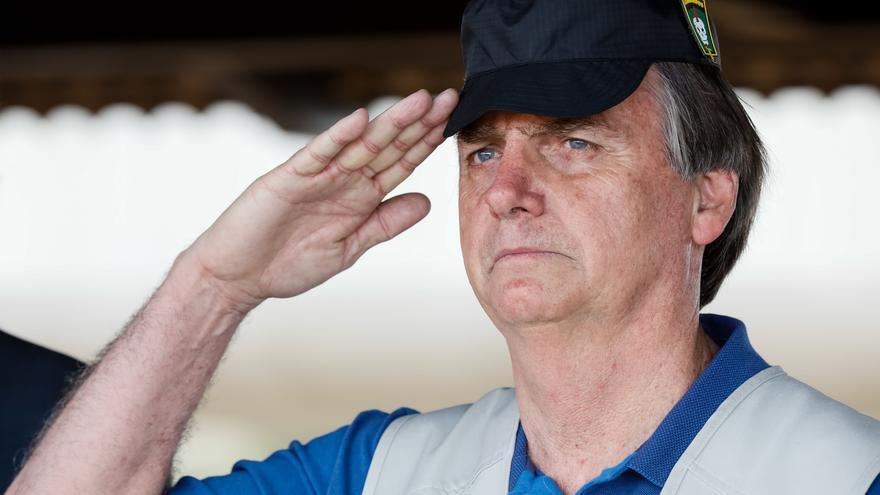 Jair Bolsonaro, durante la visita al Comando de Operaciones Especiales del Ejército Brasileño, en la ciudad de Goiânia (26/07/19).