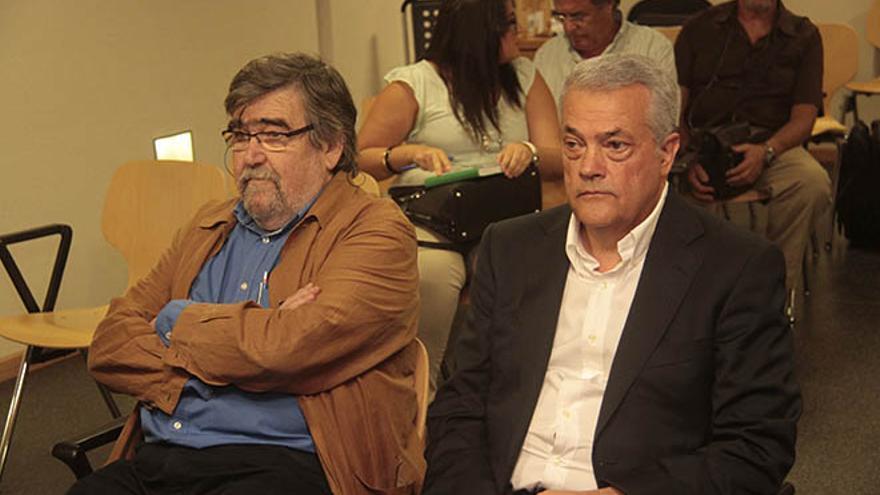 Federico Echevarría y Antonio Caro, promotor y constructor de la urbanización La Bufona.