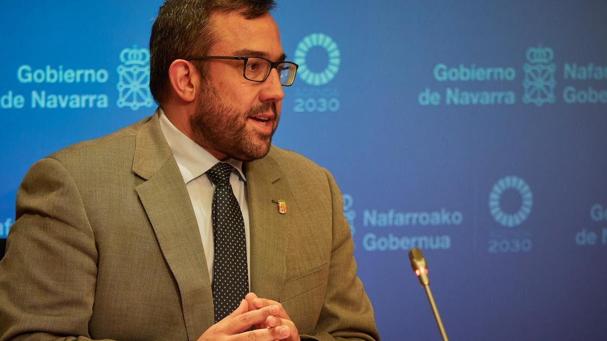 El vicepresidente primero y portavoz del Gobierno de Navarra, Javier Remírez