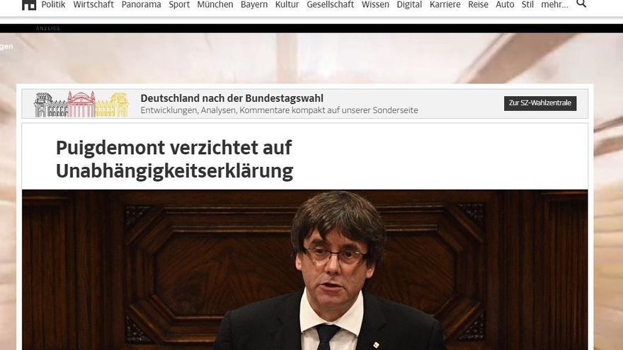 Portada de Sueddeutsche Zeitung