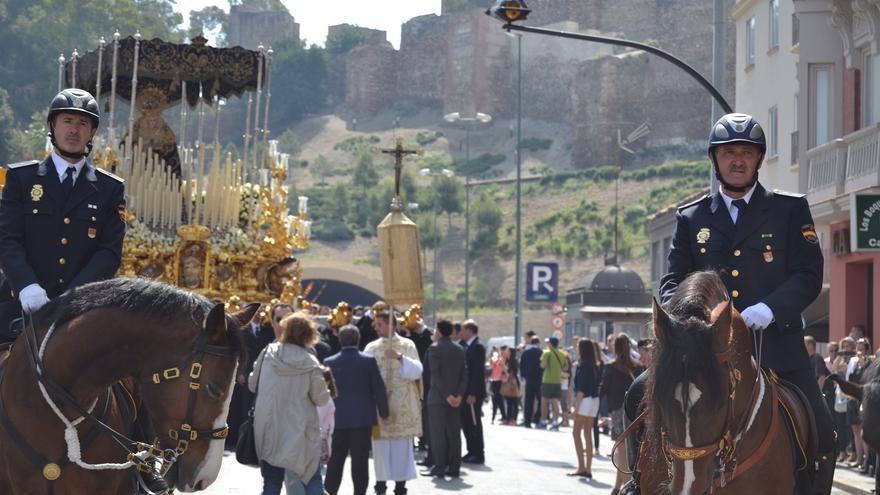 La Virgen del Amor, durante la procesión