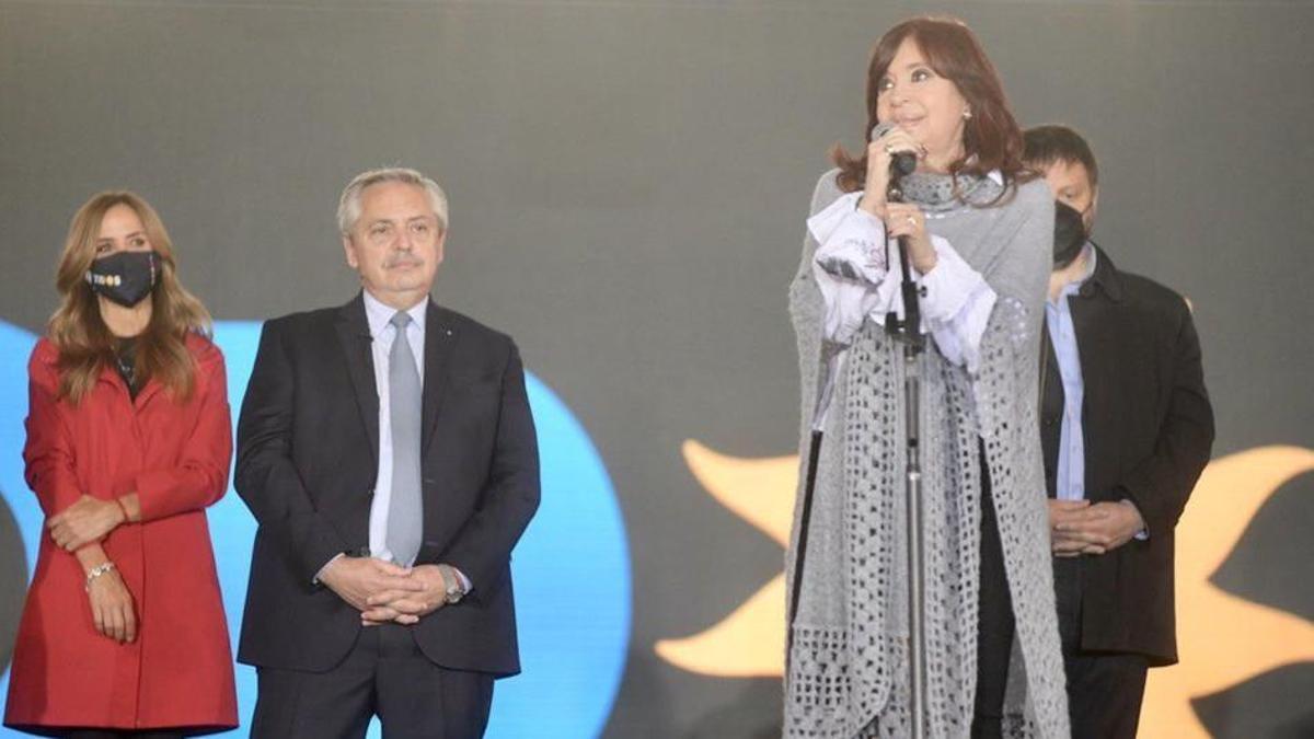 Cristina Fernández en el cierre de campaña de FdT