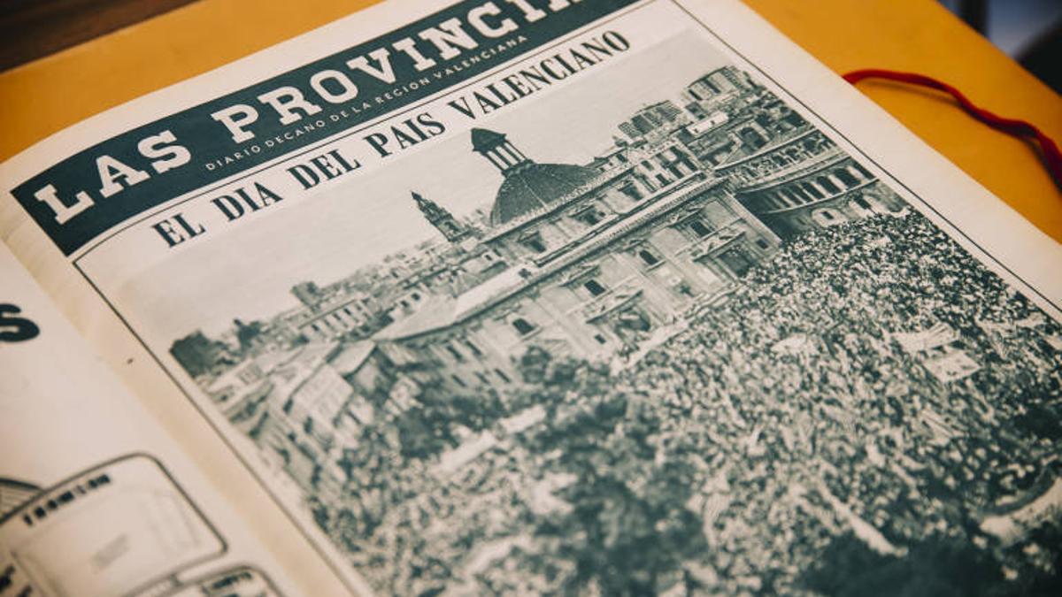 Portada de 'Las Provincias' antes del giro anticatalanista del diario.