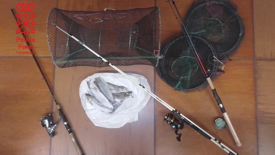 Denunciados seis pescadores en el Ega, Aragón y Ebro por infringir la normativa