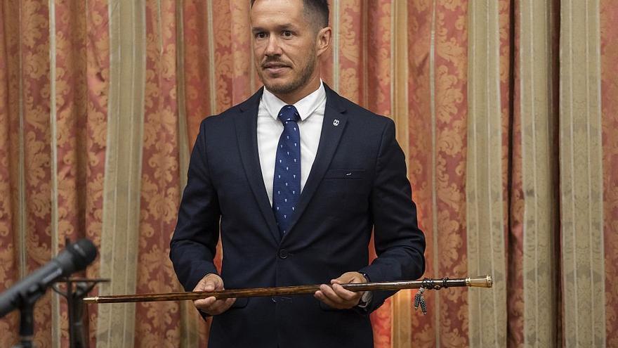 Mariano Hernández Zapata,  este miércoles, tras tomar posesión del cargo de presidente del Cabildo de La Palma.