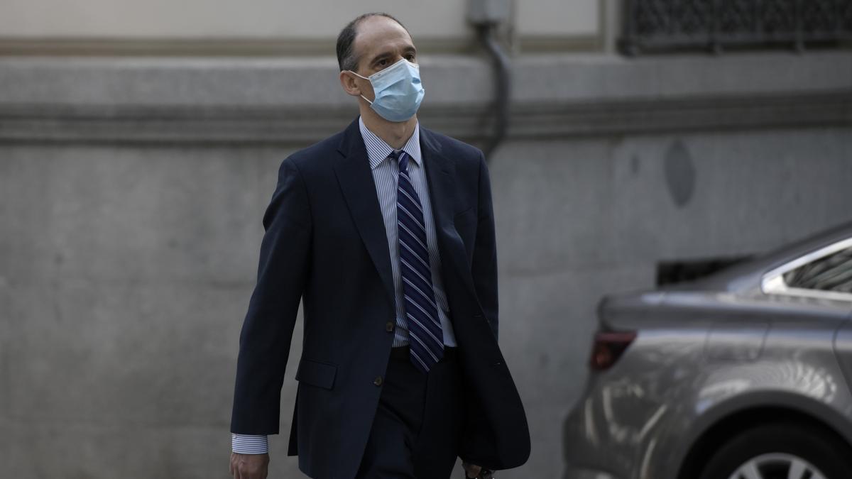 El inspector de la Policía Manuel Morocho, a su llegada a la Audiencia Nacional para declarar ante el juez García_Castellón